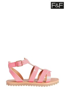 F&F Younger Girls Coral Gladiator Sandals