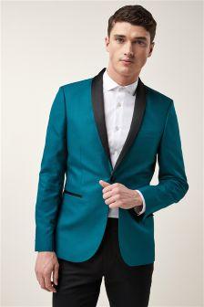Textured Shawl Collar Jacket