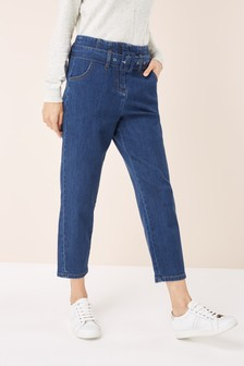 Belted Taper Jeans