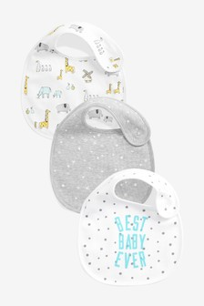 3 Pack Multi Character/Slogan Regular Bibs