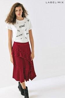 Mix/Kitri Studio Check Ruffle Skirt