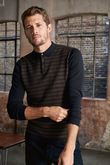 Patterned Textured Polo