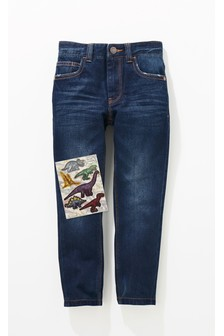 Зауженные джинсы с 5 карманами (3-16 лет)