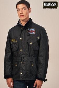 Barbour® International Black Union Jack International Jacket