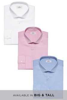Textured Shirt Three Pack