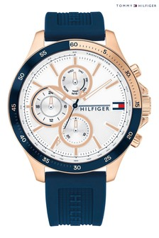 Tommy Hilfiger Watch With Blue Silicone Strap