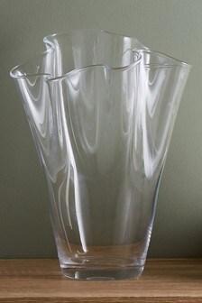 Glass Frill Vase