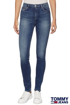 Tommy Jeans Royal Blue High Rise Skinny Jean