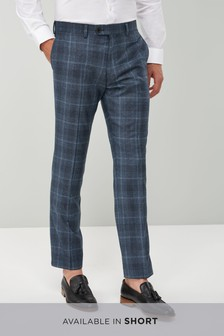 Slim Fit Signature Check Suit: Trouser