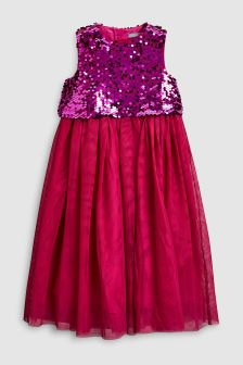 Sequin Mesh Dress (3-14yrs)