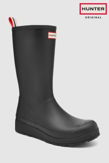 Hunter Black Original Play Wedge Welly