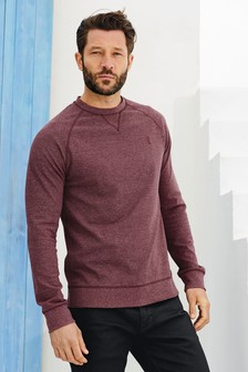 Long Sleeve Fabric Interest Crew