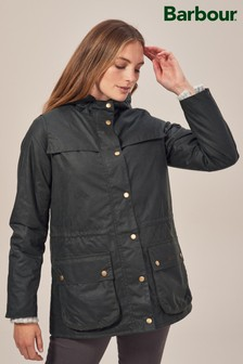 Barbour® Blaise Sage Liberty Lined Wax Jacket