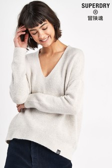 Superdry Oatmeal Slouch Knit Jumper