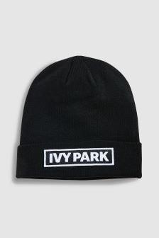 Ivy Park Black Badge Logo Beanie