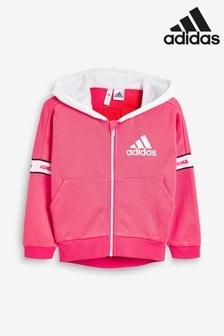 adidas Little Kids Pink Full Zip Hoody