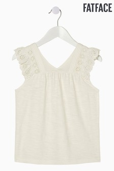FatFace Natural Broderie Panel Cami
