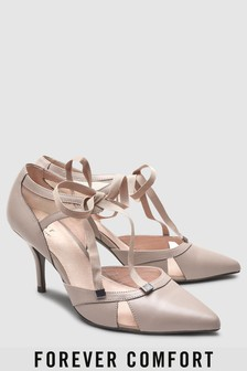 Two Part Mesh Detail Court Shoes