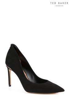 Ted Baker Black Savio Suede Court Shoe