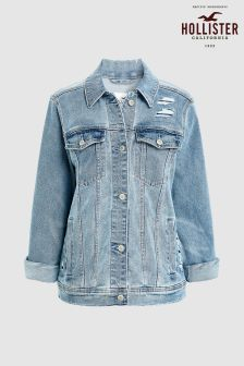 Hollister Boyfriend Medium Wash Denim Jacket