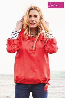 Joules Red Embleton Hooded Pop Over Jacket