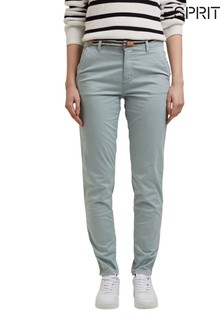 Esprit Green Slim Fit Chinos With Innovative Stretch Fibres