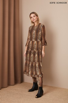 Sofie Schnoor Tiger Print Midi Dress