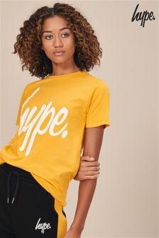 Hype. Yellow Script Tee