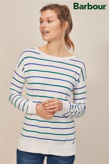 Barbour® White Stripe Long Sleeve Knit