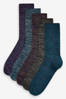 Colour Marl Socks Five Pack