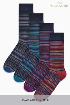 Bamboo Stripe Socks Four Pack