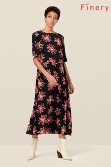 Finery London Black Madalyn Floral Dress