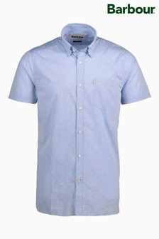 Barbour® Blue Crab Print Short Sleeve Shirt