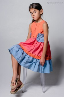 Angel & Rocket Orange Tiered Dress
