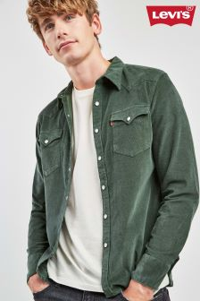 Levi's® Green Barstow Western Cord Shirt