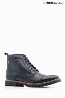 Base London® Blue Brigade Lace-Up Boot