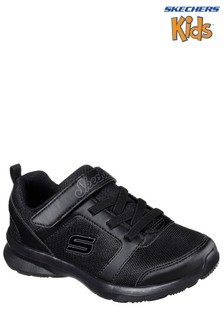 Skechers® Kids Black Skech Step Stepz Sweet Twist Gore Strap Sneaker