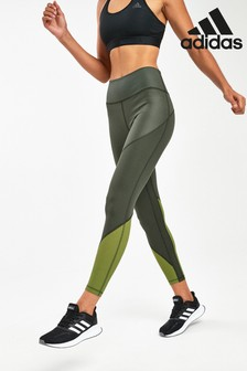adidas Khaki Believe This High Rise 7/8 Leggings