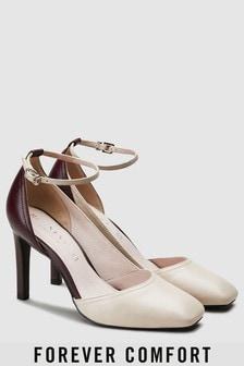 Chaussures Forever Comfort en cuir et en deux parties asymétriques