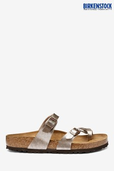 Birkenstock® Taupe Cross Toe Sandals