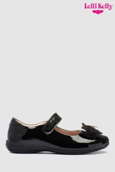 Lelli Kelly Black Patent Bow Dolly Shoe