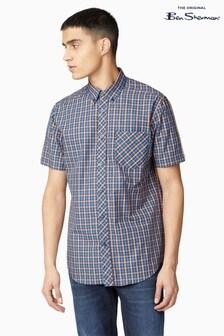 Ben Sherman Peach Short Sleeve Signature House Check Shirt