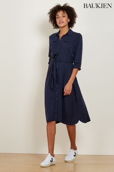 Baukjen Classic Navy Lindon Shirt Dress