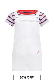 Levis Kidswear Baby Girls White Cotton Set