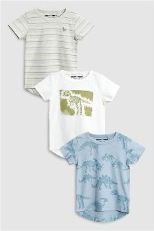 Dinosaur Short Sleeve T-Shirts Three Pack (3mths-6yrs)