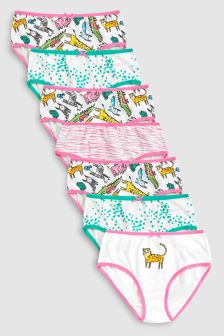 Zoo Animal Printed Briefs Seven Pack (1.5-12yrs)