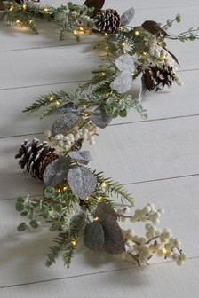 frosted foliage garland - Copper Christmas Decorations