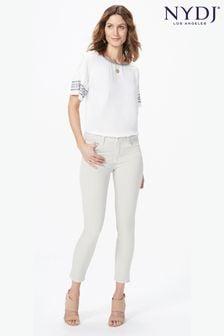 Укороченные бежевые джинсы NYDJ Alina