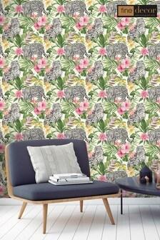 Fine Décor Tropica Leopard Wallpaper