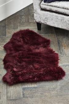 Teppich aus Fellimitat